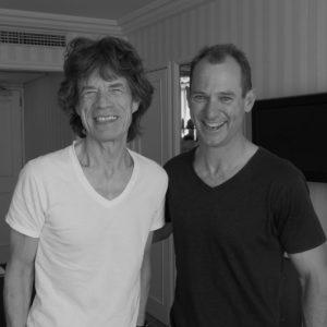 Mick Jagger and Rob Naish