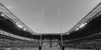 Stadium with crowds
